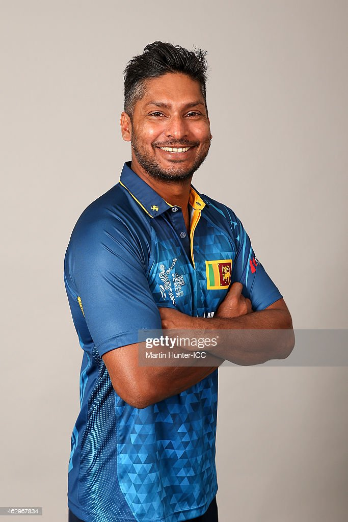 <a gi-track='captionPersonalityLinkClicked' href=/galleries/search?phrase=Kumar+Sangakkara&family=editorial&specificpeople=206804 ng-click='$event.stopPropagation()'>Kumar Sangakkara</a> poses during the Sri Lanka 2015 ICC Cricket World Cup Headshots Session at the Rydges Latimer on February 8, 2015 in Christchurch, New Zealand.