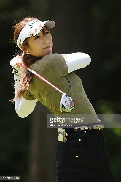 Kumiko Kaneda of Japan hits her tee shot on the 2nd hole during the second round of the Nichirei Ladies at the Sodegaura Country Club Shinsode Course...
