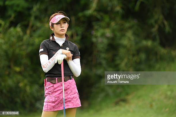 Kumiko Kaneda of Japan looks on during the first round of the Stanley Ladies Golf Tournament at the Tomei Country Club on October 7 2016 in Susono...