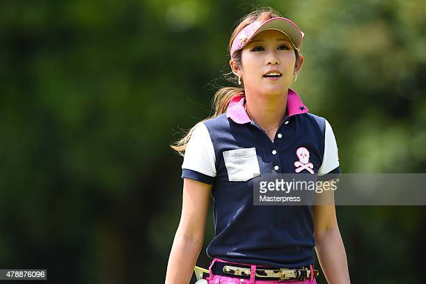 Kumiko Kaneda of Japan looks onduring the final round of the Earth Mondamin Cup at the Camellia Hills Country Club on June 28 2015 in Sodegaura Japan
