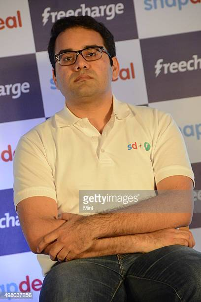 Kunal Bahl CoFounder CEO Snapdeal briefing media on Snapdeal acquires FreeCharge to become the largest Mobile commerce company in India on April 8...