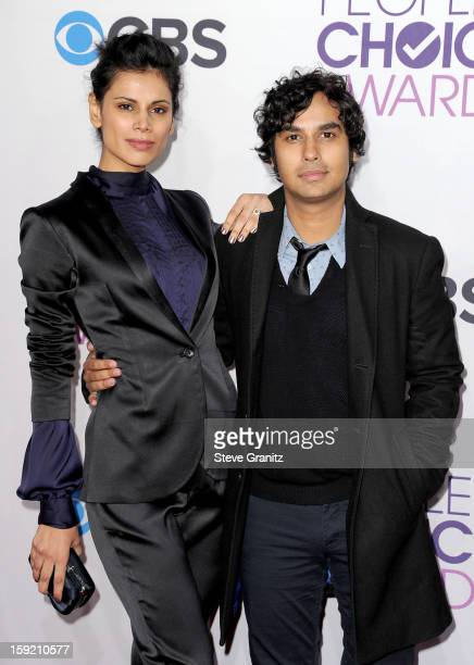 Kunal Nayyar and Neha Kapur attend the 2013 People's Choice Awards at Nokia Theatre LA Live on January 9 2013 in Los Angeles California