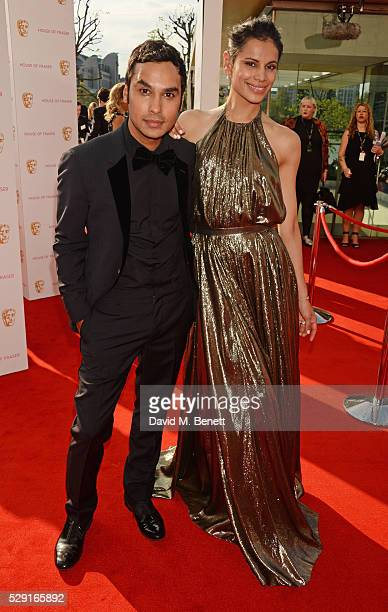 Kunal Nayyar and Neha Kapur attend the House Of Fraser British Academy Television Awards 2016 at the Royal Festival Hall on May 8 2016 in London...