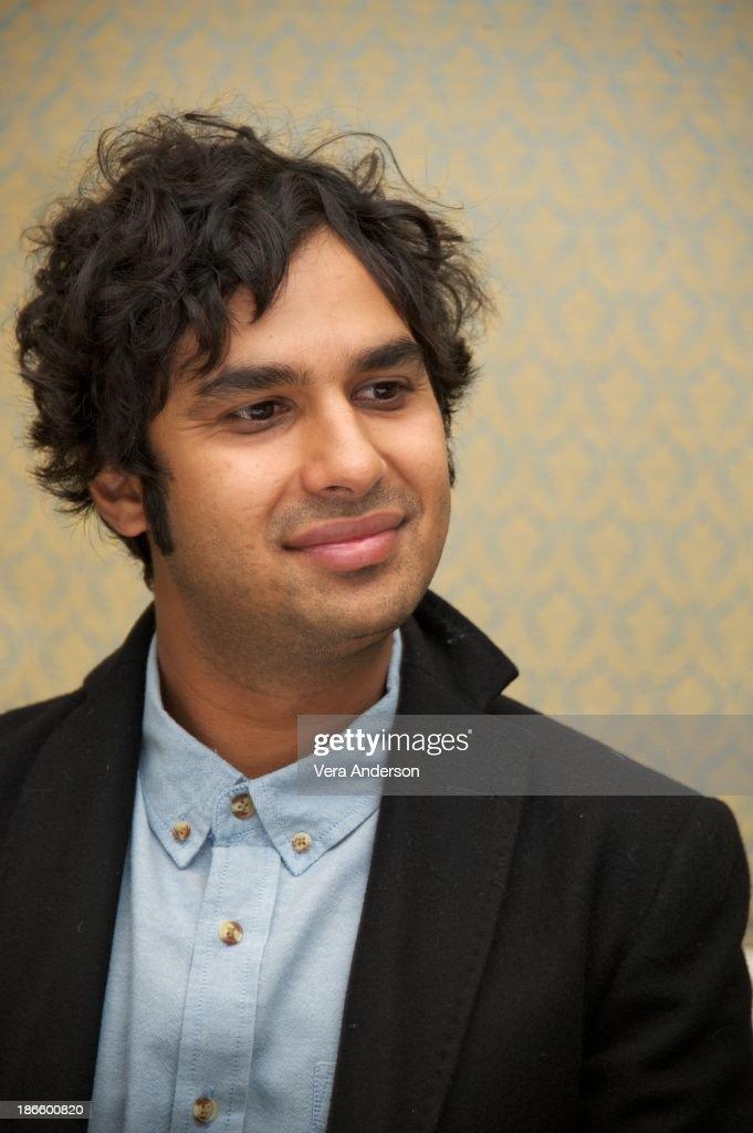 Kunal Nayyar at 'The Big Bang Theory' Press Conference at the Four Seasons Hotel on October 30, 2013 in Beverly Hills.