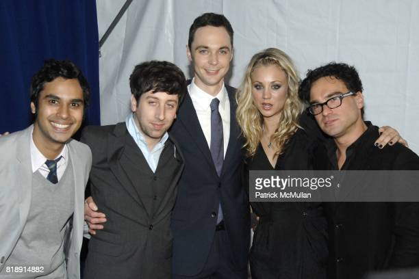 Kunal Nayyar Simon Helberg Jim Parsons Kaley Cuoco and Johnny Galecki attend CBS UPFRONT 2010 at Damrosch Park on May 19 2010 in New York City