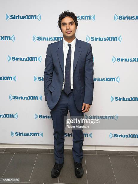 Kunal Nayyar visits at SiriusXM Studios on September 18 2015 in New York City
