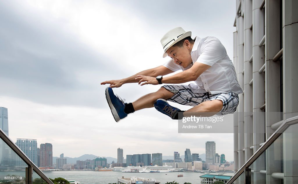 Kung Fu jumping in Hong Kong