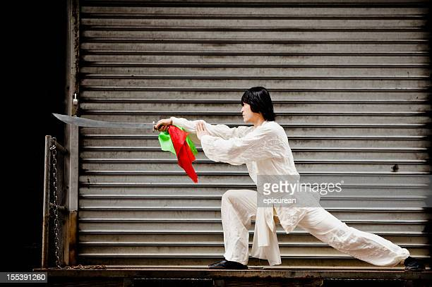 Kung Fu Warrior with sword