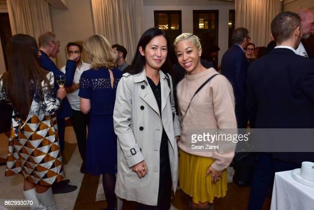 Kuni Ueta and Paris Grant attend Tom Faulkner at Angela Brown Ltd on October 18 2017 in New York City