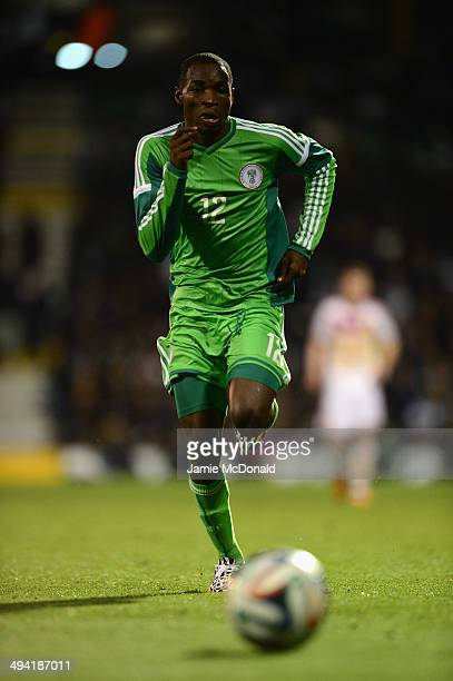 Kunle Odunlami of Nigeria in action during the International Friendly match between Nigeria and Scotland at Craven Cottage on May 28 2014 in London...