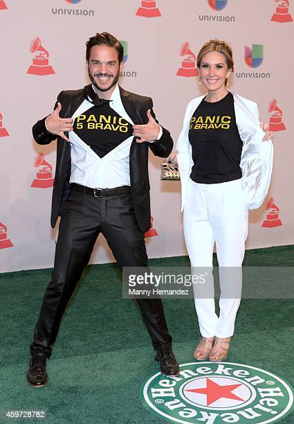 Kuno Becker and Papile Aurora arrive at the 15th Annual Latin Grammy Awards on November 20 2014 in Las Vegas Nevada