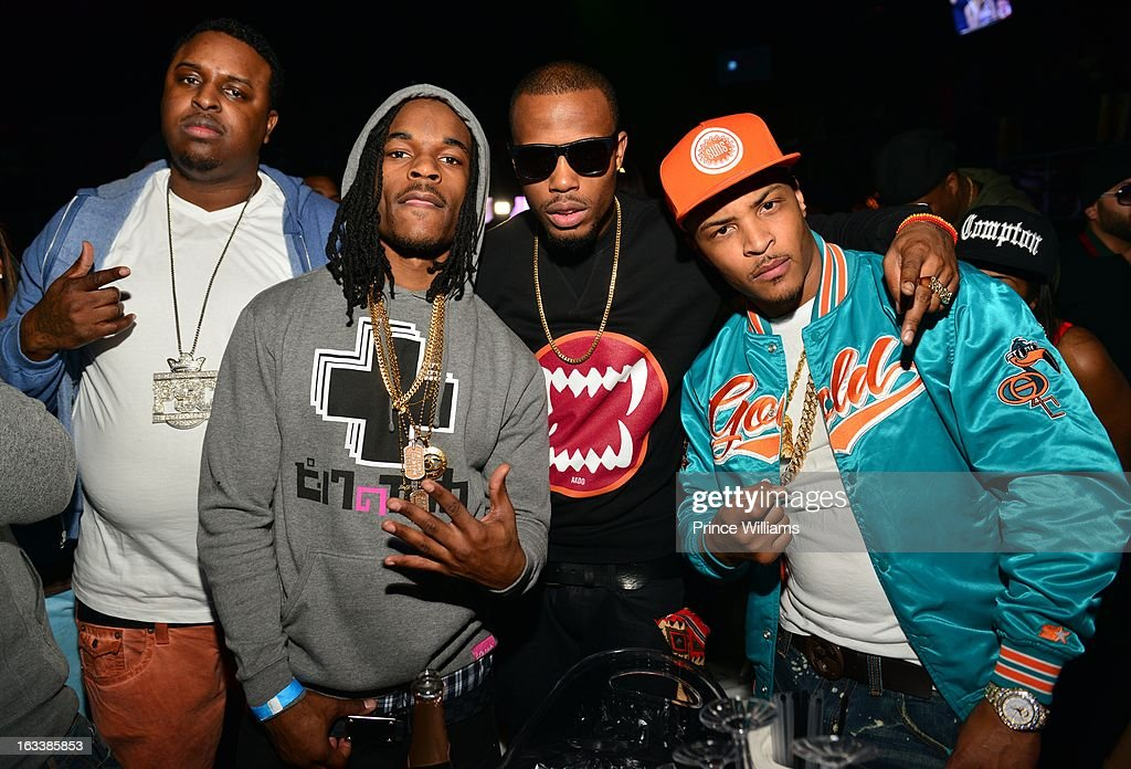 Kuntry King, Rich Kid Shawty, B.o.B and <a gi-track='captionPersonalityLinkClicked' href=/galleries/search?phrase=T.I.&family=editorial&specificpeople=221599 ng-click='$event.stopPropagation()'>T.I.</a> attend a party hosted by <a gi-track='captionPersonalityLinkClicked' href=/galleries/search?phrase=T.I.&family=editorial&specificpeople=221599 ng-click='$event.stopPropagation()'>T.I.</a> and Fabolous at Cameo Nightclub on March 1, 2013 in Charlotte, North Carolina.