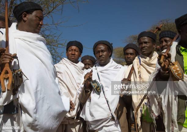 Kura Jarso the 71st Borana Oromo Abba gadaa and his councilors Oromia Yabelo Ethiopia on March 7 2017 in Yabelo Ethiopia