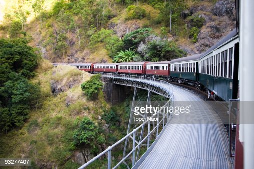 Kuranda scenic railway train, Queensland : Stock Photo
