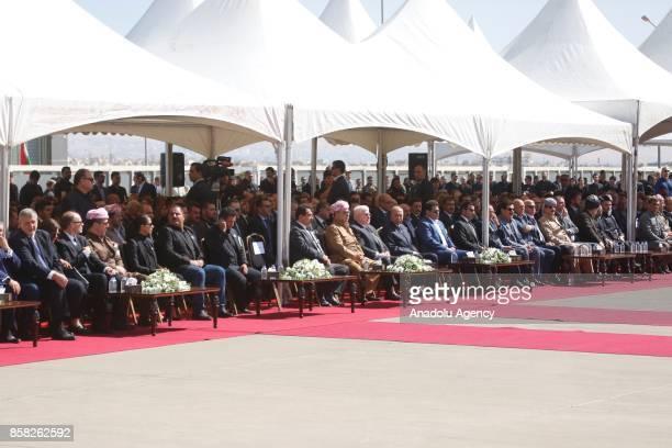 Kurdish Regional Government Deputy Prime Minister Kosrat Rasul Ali Kurdish Regional Government President Masoud Barzani Iraqi President Fuad Masum...