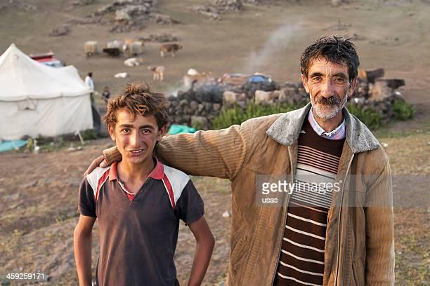 Kurdish Transhumant  Man With His Son