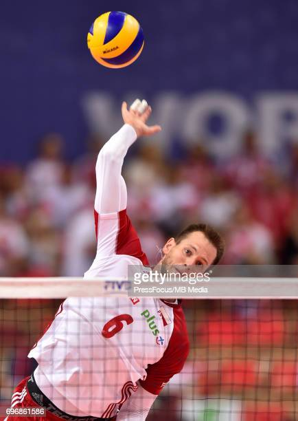 Kurek Bartosz during the FIVB Volleyball World League 2017 match between Poland and Russia at Spodek on June 15 2017 in Katowice Poland