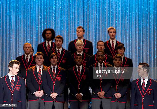 Kurt and Blaine perform with the Warblers at Regionals in the 'Original Song' episode of GLEE airing Tuesday March 14 on FOX