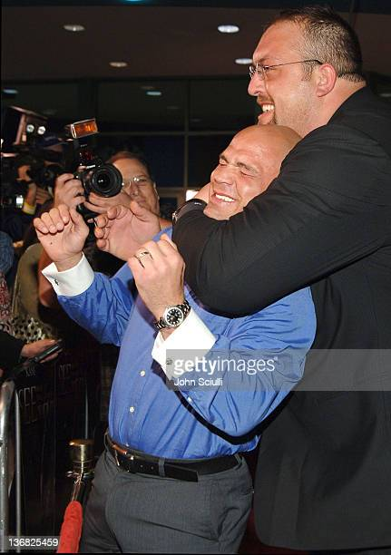 Kurt Angle and Big Show WWE Superstars during 'See No Evil' Premiere Arrivals in Los Angeles California United States