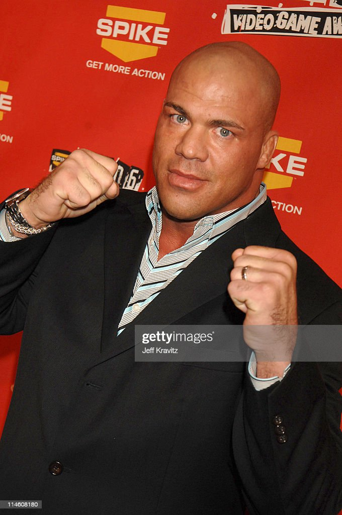 <a gi-track='captionPersonalityLinkClicked' href=/galleries/search?phrase=Kurt+Angle&family=editorial&specificpeople=644134 ng-click='$event.stopPropagation()'>Kurt Angle</a> during Spike TV's 2006 Video Game Awards Hosted By Samuel L. Jackson - Red Carpet at The Galen Center in Los Angeles, California, United States.