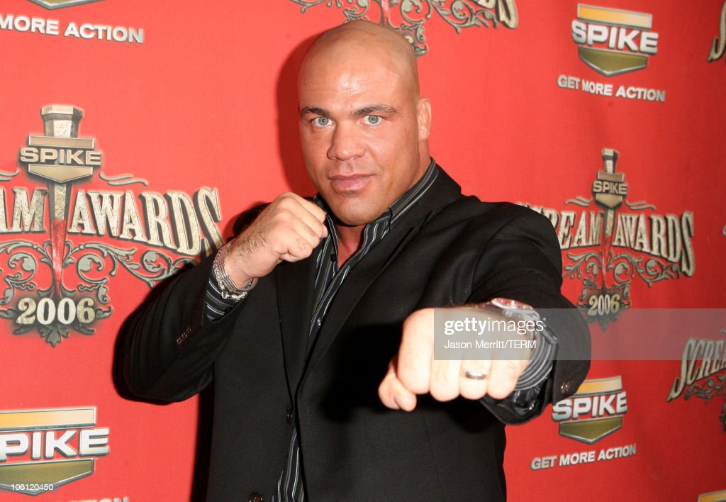 <a gi-track='captionPersonalityLinkClicked' href=/galleries/search?phrase=Kurt+Angle&family=editorial&specificpeople=644134 ng-click='$event.stopPropagation()'>Kurt Angle</a> during Spike TV's 'Scream Awards 2006' - Red Carpet at Pantages Theater in Hollywood, California, United States.