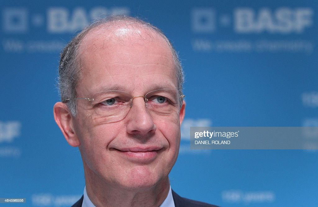 <a gi-track='captionPersonalityLinkClicked' href=/galleries/search?phrase=Kurt+Bock&family=editorial&specificpeople=2540103 ng-click='$event.stopPropagation()'>Kurt Bock</a>, CEO of German chemical company BASF addresses the media during the company's annual financial statement at its headquarters in Ludwigshafen, Germany, on February 27, 2015. AFP PHOTO / DANIEL ROLAND