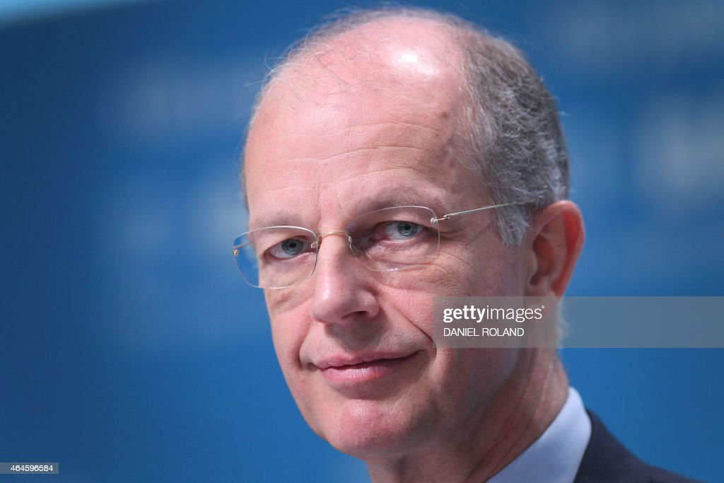 <a gi-track='captionPersonalityLinkClicked' href=/galleries/search?phrase=Kurt+Bock&family=editorial&specificpeople=2540103 ng-click='$event.stopPropagation()'>Kurt Bock</a>, CEO of German chemical company BASF addresses the media during the company's annual financial statement at its headquarters in Ludwigshafen, Germany, on February 27, 2015.