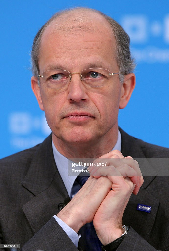 Kurt Bock chief executive officer of BASF SE pauses during the company's earnings news conference in Ludwigshafen Germany on Friday Feb 24 2012 BASF...