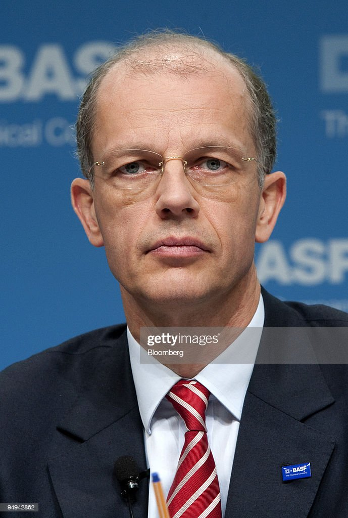 Kurt Bock chief financial officer of BASF SE listens during the annual earnings press conference in Ludwigshafen Germany on Thursday Feb 26 2009 BASF...