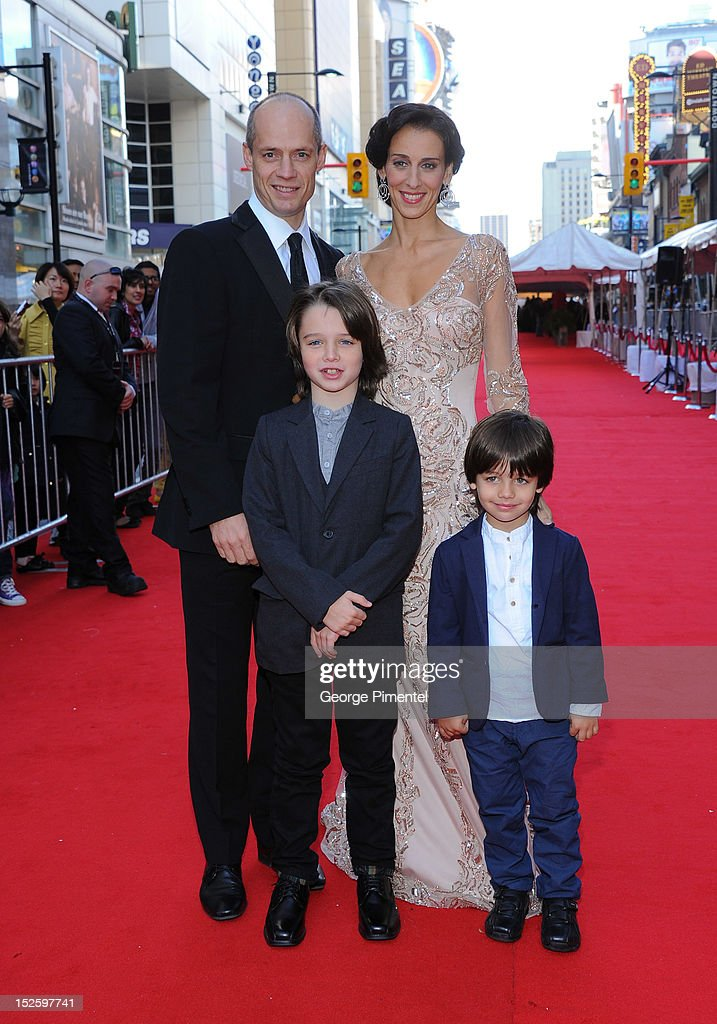 Kurt Browning, Sonia Rodriguez, Gabriel Browning Rodriguez and Dillon Browning Rodriguez attend the 2012 Canada's Walk of Fame Awards at Ed Mirvish Theatre on September 22, 2012 in Toronto, Canada.