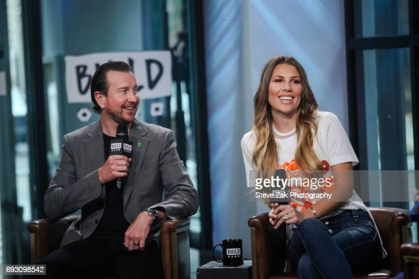 Kurt Busch and Ashley Van Metre attend Build Series at Build Studio on June 6 2017 in New York City