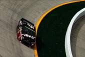 Kurt Busch driver of the Haas Automation Chevrolet races during the NASCAR Sprint Cup Series STP 500 at Martinsville Speedway on March 30 2014 in...