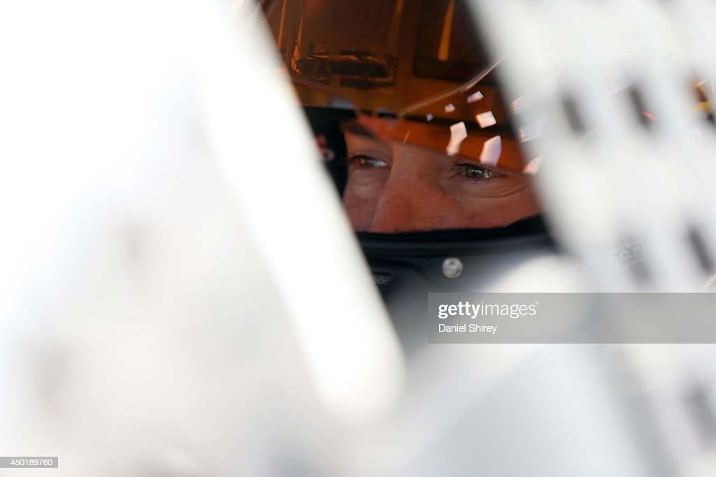 Kurt Busch, driver of the #41 Haas Automation Chevrolet, sits in his car during qualifying for the NASCAR Sprint Cup Series Pocono 400 at Pocono Raceway on June 6, 2014 in Long Pond, Pennsylvania.