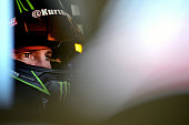 Kurt Busch driver of the Haas Automation Chevrolet sits in his car during practice for the NASCAR Sprint Cup Series Toyota/Save Mart 350 at Sonoma...