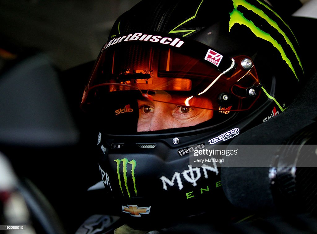 <a gi-track='captionPersonalityLinkClicked' href=/galleries/search?phrase=Kurt+Busch&family=editorial&specificpeople=201728 ng-click='$event.stopPropagation()'>Kurt Busch</a>, driver of the #41 Haas Automation Made in America Chevrolet, sits in his car in the garage area during practice for the NASCAR Sprint Cup Series Coca-Cola 600 at Charlotte Motor Speedway on May 24, 2014 in Charlotte, North Carolina.