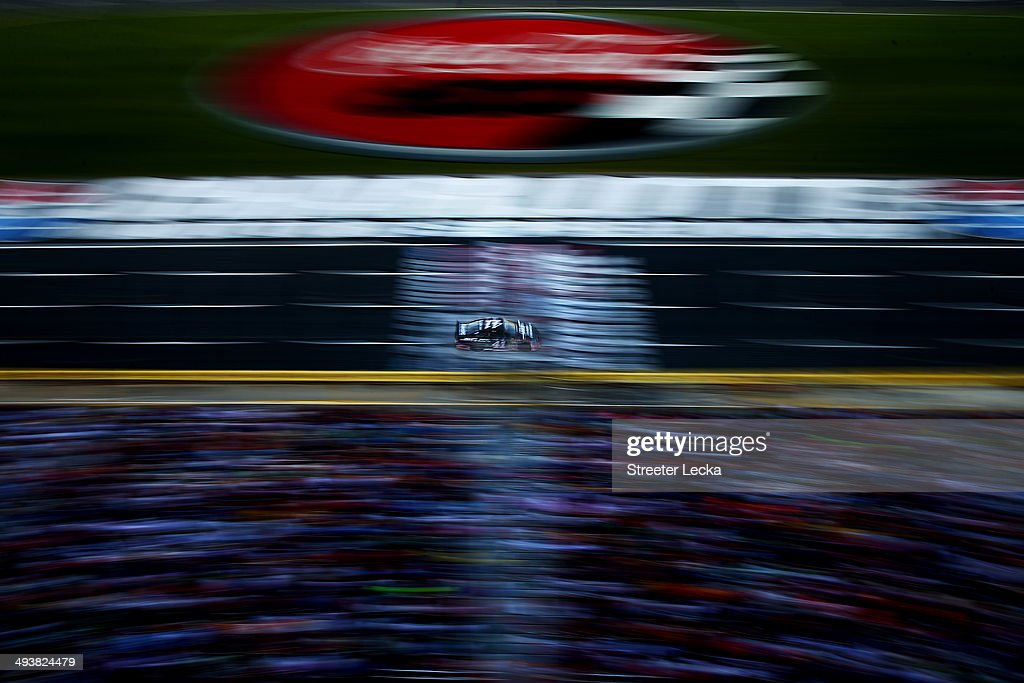 Kurt Busch, driver of the #41 Haas Automation Made in America Chevrolet, races during the NASCAR Sprint Cup Series Coca-Cola 600 at Charlotte Motor Speedway on May 25, 2014 in Charlotte, North Carolina.