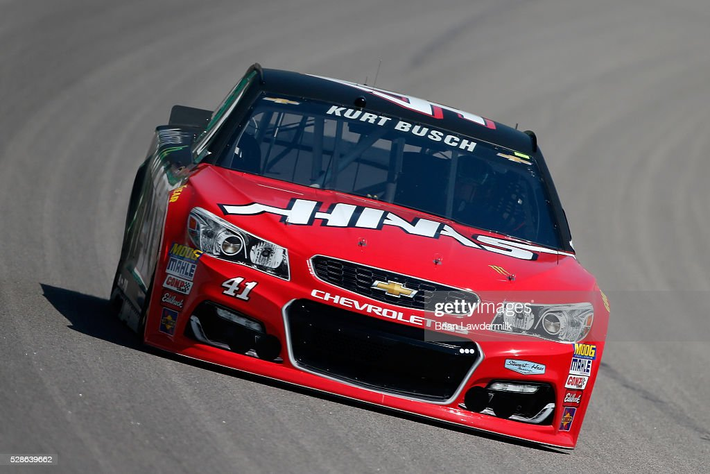 Kurt Busch, driver of the #41 Haas Automation/Monster Energy Chevrolet, drives during practice for the NASCAR Sprint Cup Series Go Bowling 400 at Kansas Speedway on May 6, 2016 in Kansas City, Kansas.