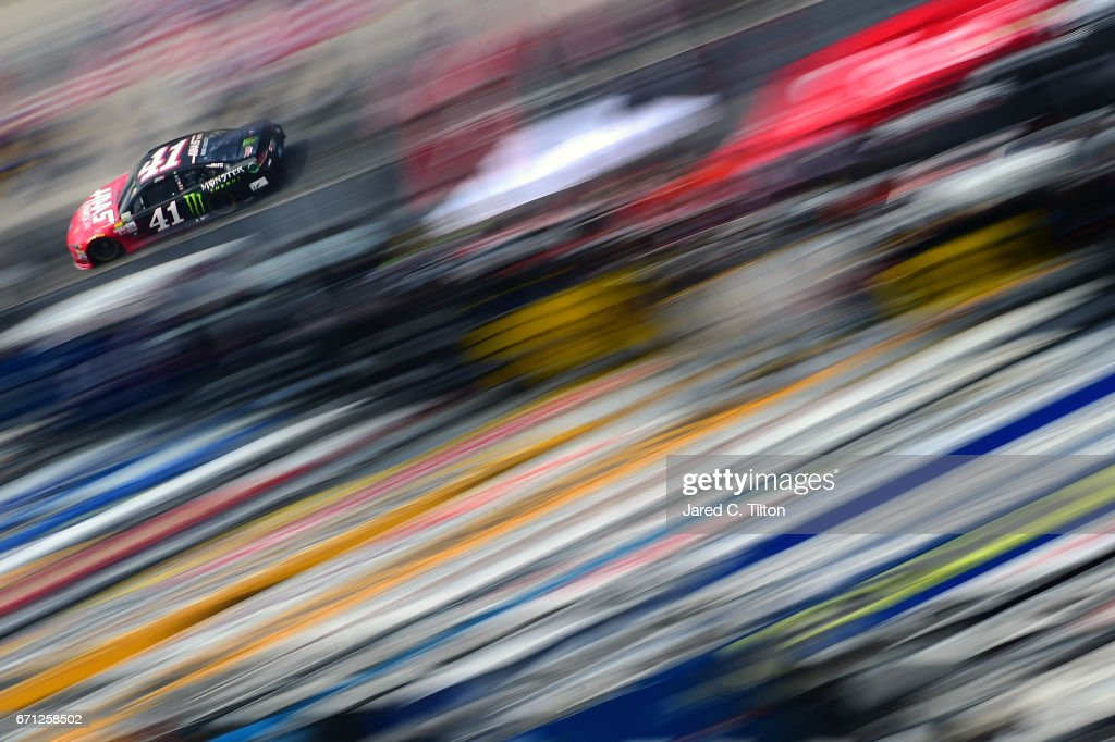 Kurt Busch, driver of the #41 Haas Automation/Monster Energy Ford, drives during practice for the Monster Energy NASCAR Cup Series Food City 500 at Bristol Motor Speedway on April 21, 2017 in Bristol, Tennessee.