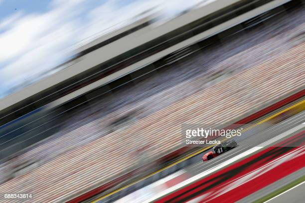Kurt Busch driver of the Haas Automation/Monster Energy Ford drives during practice for the Monster Energy NASCAR Cup Series CocaCola 600 at...