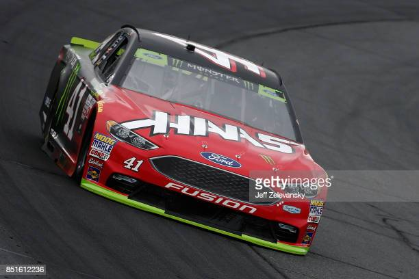 Kurt Busch driver of the Haas Automation/Monster Energy Ford practices for the Monster Energy NASCAR Cup Series ISM Connect 300 at New Hampshire...