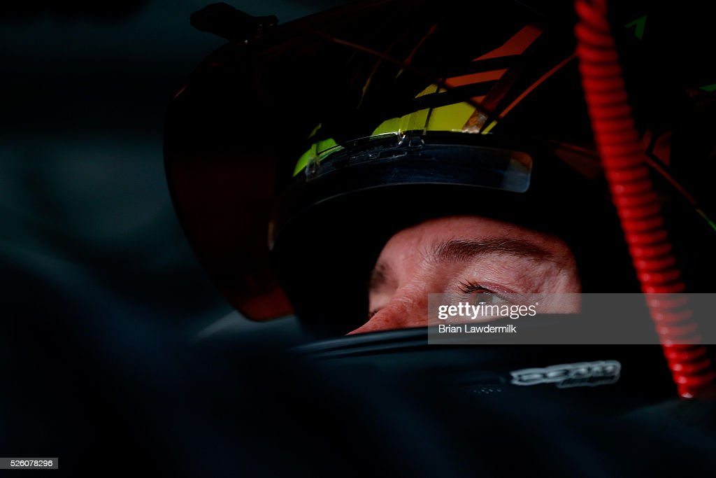 <a gi-track='captionPersonalityLinkClicked' href=/galleries/search?phrase=Kurt+Busch&family=editorial&specificpeople=201728 ng-click='$event.stopPropagation()'>Kurt Busch</a>, driver of the #41 Monster Energy Chevrolet, sits in his car during practice for the NASCAR Sprint Cup Series GEICO 500 at Talladega Superspeedway on April 29, 2016 in Talladega, Alabama.