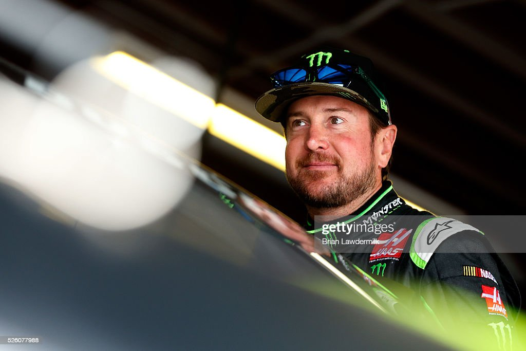 <a gi-track='captionPersonalityLinkClicked' href=/galleries/search?phrase=Kurt+Busch&family=editorial&specificpeople=201728 ng-click='$event.stopPropagation()'>Kurt Busch</a>, driver of the #41 Monster Energy Chevrolet, stands in the garage area during practice for the NASCAR Sprint Cup Series GEICO 500 at Talladega Superspeedway on April 29, 2016 in Talladega, Alabama.