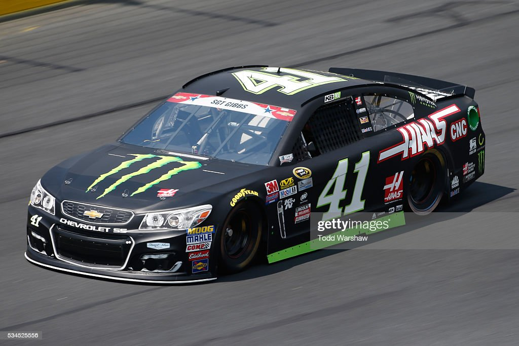 <a gi-track='captionPersonalityLinkClicked' href=/galleries/search?phrase=Kurt+Busch&family=editorial&specificpeople=201728 ng-click='$event.stopPropagation()'>Kurt Busch</a>, driver of the #41 Monster Energy/Haas Automation Chevrolet, practices for the NASCAR Sprint Cup Series Coca-Cola 600 at Charlotte Motor Speedway on May 27, 2016 in Charlotte, North Carolina.