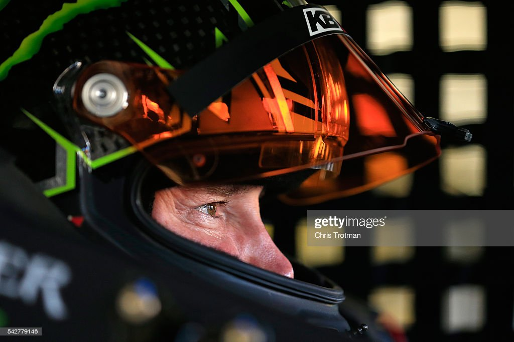 <a gi-track='captionPersonalityLinkClicked' href=/galleries/search?phrase=Kurt+Busch&family=editorial&specificpeople=201728 ng-click='$event.stopPropagation()'>Kurt Busch</a>, driver of the #41 Monster Energy/Haas Automation Chevrolet, sits in his car during practice for the NASCAR Sprint Cup Series Toyota/Save Mart 350 at Sonoma Raceway on June 24, 2016 in Sonoma, California.