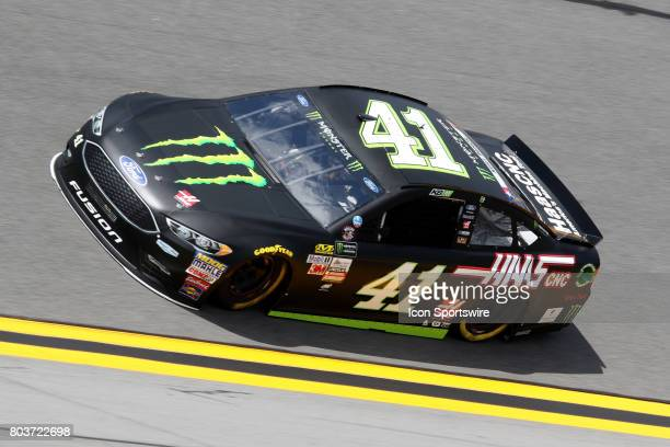 Kurt Busch driver of the Monster Energy/Haas Automation Energy Ford dduring practice for the Coke Zero 400 Monster Energy Cup Series race on June 29...