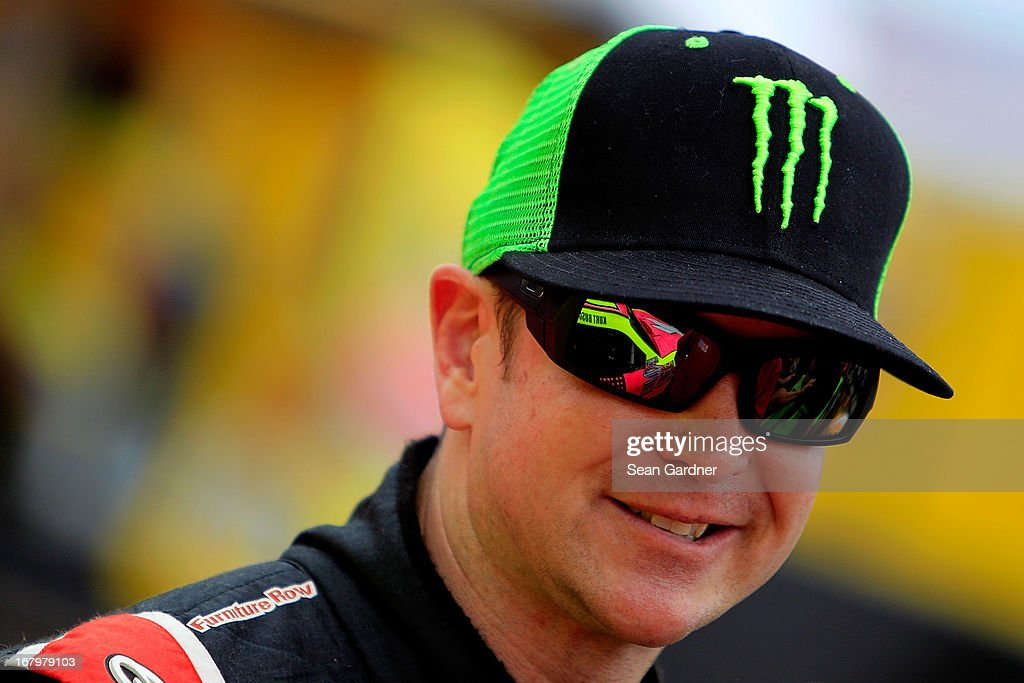 Kurt Busch, driver of the #1 Phoenix Construction Chevrolet, looks on during qualifying for the NASCAR Nationwide Series Aaron's 312 at Talladega Superspeedway on May 3, 2013 in Talladega, Alabama.