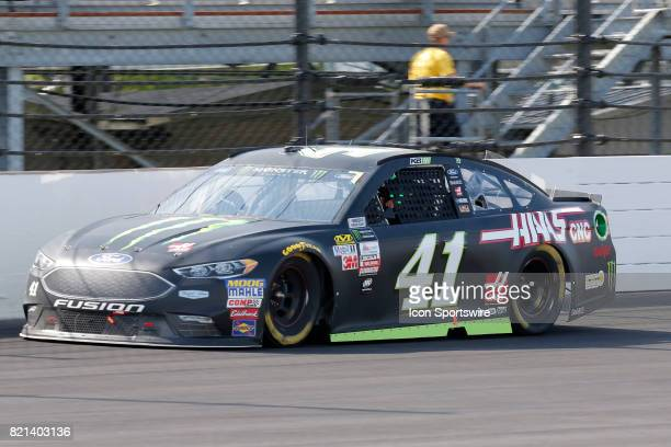 Kurt Busch Monster Energy StewartHaas Racing Ford Fusion during the NASCAR Monster Energy Cup Series Brantley Gilbert Big Machine Brickyard 400 July...