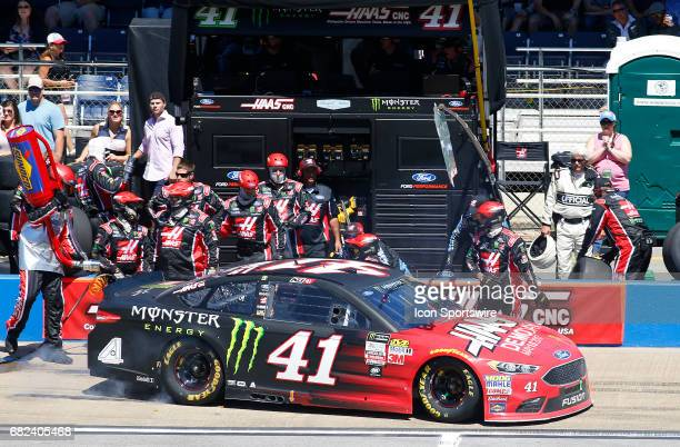 Kurt Busch StewartHaas Racing Haas Automation/Monster Energy Ford Fusion pits his race car during the Monster Energy NASCAR Cup Series race on May 7...