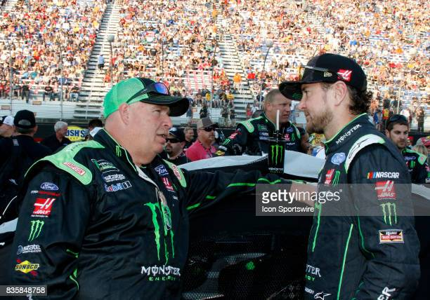 Kurt Busch StewartHaas Racing Monster Energy/Haas Automation Ford Fusion and crew chief Tony Gibson during the running of the 57th annual Bass Pro...