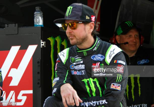 Kurt Busch StewartHaas Racing Monster Energy/Haas Automation Ford Fusion during practice for the Bass Pro Shop NRA 500 at Bristol Motor Speedway on...